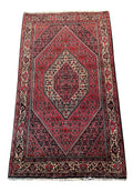 "3'7"" x 6 Persian Bijar Iron Rug"
