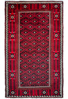 4 x 6'6 Persian Baluch Tribal Rug