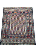 "4'2"" x 5'4"" Antique Persian Baluch Rug"