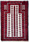 "3'2"" x 4'9"" Persian Baluch Prayer Rug"