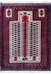 "3'2"" x 4'1"" Persian Baluch Prayer Rug"