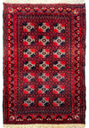 "3'2"" x 4'9"" Persian Baluch Tribal Rug"