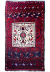 "2'7"" x 5 Semi Antique Persian Baluch Tribal Rug"