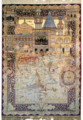 4 x 6 Persian Qum Silk Rug with signature