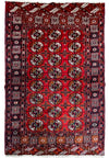4 x 6 Antique Oriental Bokhara Elephant Step Rug