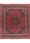 "Persian Mashad Rug 10'07"" x 11'55"" with signature of master weaver - Rugs.net"