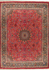 "Persian Mashad Rug 9'51"" x 13'12"" with signature of master weaver - Rugs.net"