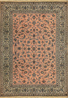 "Persian Nain Rug 8'20"" x 11'55"" All-Over Design Salmon Pink - Rugs.net"