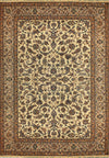 "Persian Nain 9 LAA Rug 8'14"" x 11'48"" wool & silk All Over Design Beige - Rugs.net"