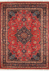 10 x 13 Persian Mashad Corner Medaillon Rug signed by master weaver
