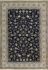 6'5 x 9'6 Botanical All-Over Design Persian Nain 9 LAA Wool & Silk Rug