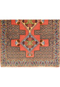 3 x 13 Geometric & Botanical Persian Senneh Kurdish Style Runner Rug