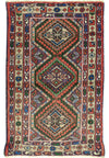 2'3 x 3'9 Semi Antique Geometric Persian Enjlas Rug