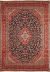 10 x 14 Persian Kashan Rug | Signed by Chief Weaver