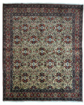 "Persian All-Over ""Iron"" Duralble Ivory Bijar Rug 8 x 9 - Rugs.net"