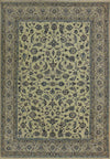 6'4 x 9'7 Persian Nain 9 Laa Rug Wool with Silk All-Over Floral Design