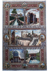 7 x 10 Persian Pictorial Tabriz Wool & Silk Rug | One of a kind