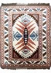 "4 x 5'4"" Antique Caucasian Kazak Rug"