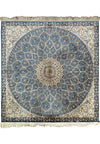 4 x 4 Persian Nain 100% Silk Square Rug