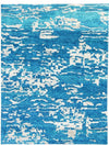 Modern Hand Knotted 5' x 7' New Rug AFFORDABLE Contemporary Blue Rugs - Rugs.net