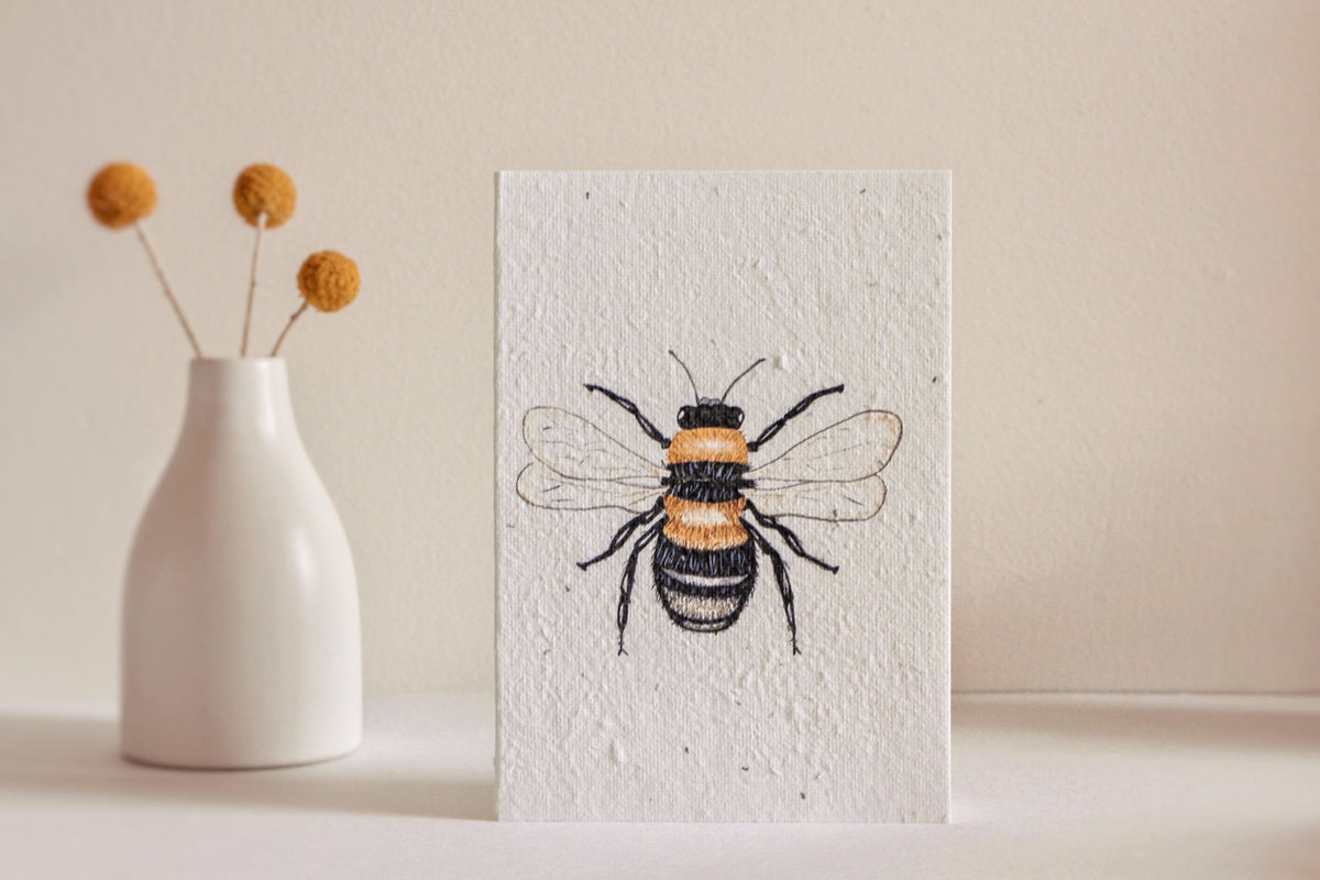 Honey Bee Blooming Mini Card