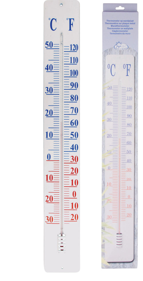 Thermometer on Wall Plate