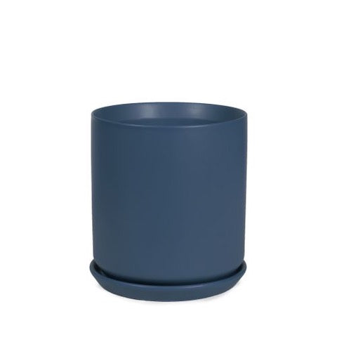 Cylinder Pot - Dark Blue