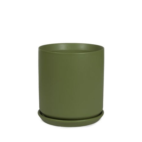 Cylinder Pot - Dark Green