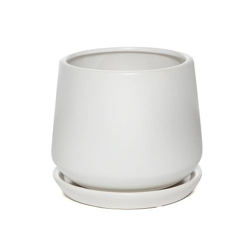 Reverse Tapered Pots In White