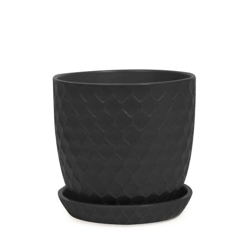 Shell Pot - Matte Black