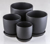 Tulip Pot Matt Black