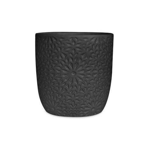 Kena  Cover Pot - Black