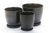 Matte Pot with Saucer - Black