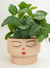 Face Squat Planter Large - Pink