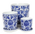 Blue & White Pots with Saucers