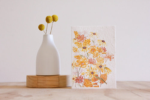 Shades of Sunshine Blooming Card