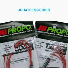 JR PROPO RC Accessories PWM converters, X-bus, Extension leads, Spare parts