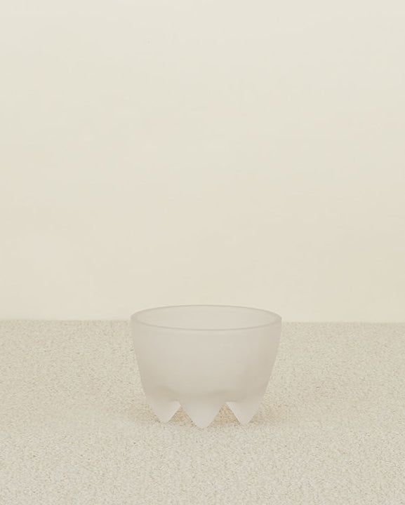 Alyson Fox Frosted Glass Footed Bowl