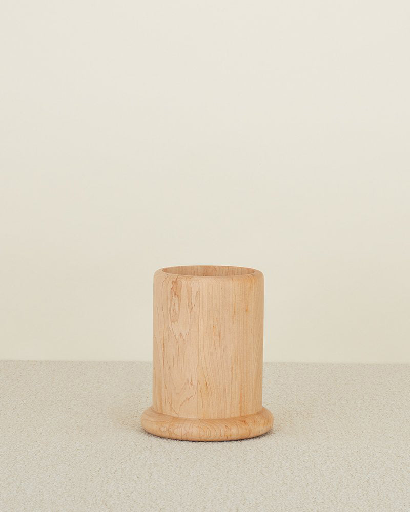 European Maple Wood Utensil Holder