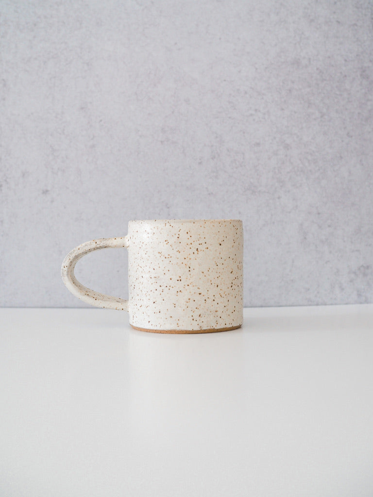 Hand-Thrown Speckled Camp Mug
