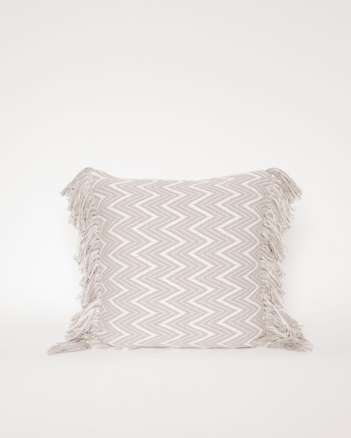 Amaru Gray Fringe Pillow