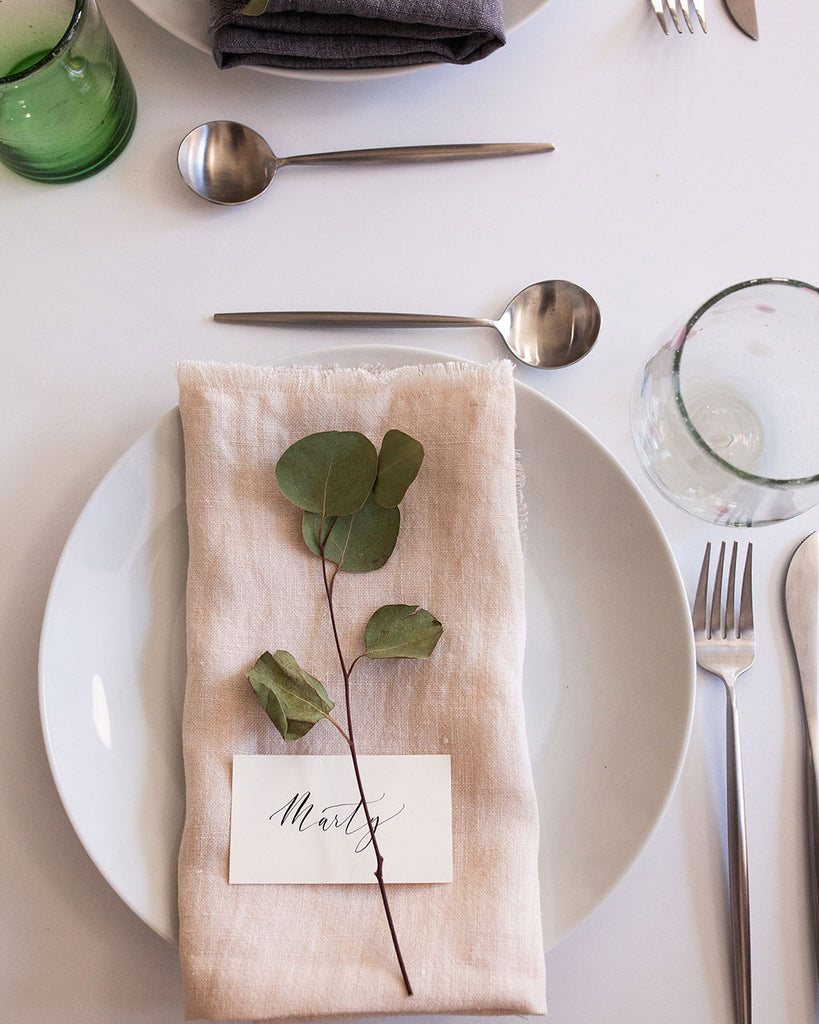 DINING LINEN NAPKIN SET - BLUSH