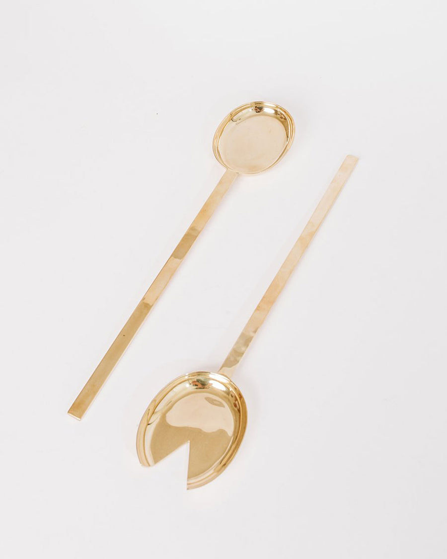 Brass Serving Spoon Set