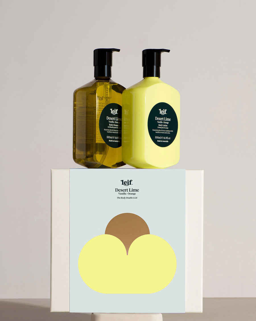 LEIF Botanical Body Wash & Lotion Gift Set in Desert Lime