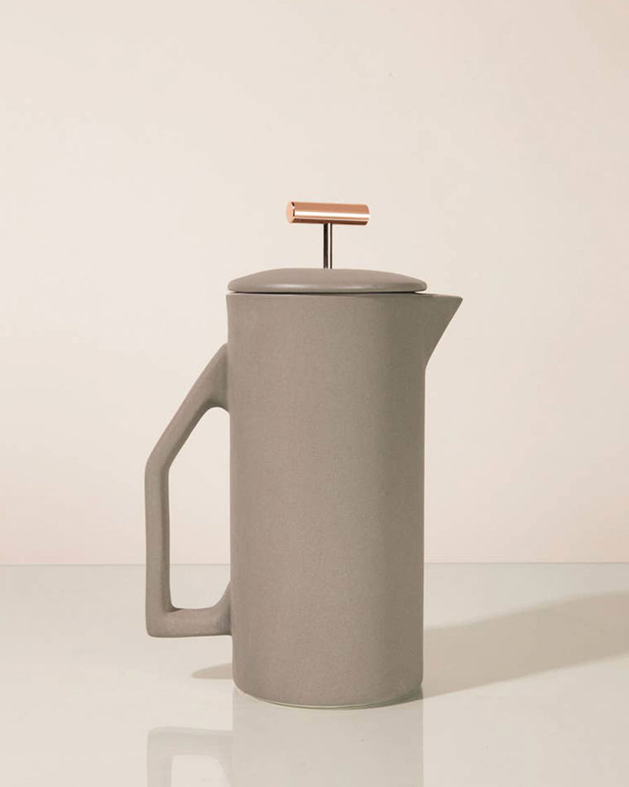 Gray Matte Ceramic French Press