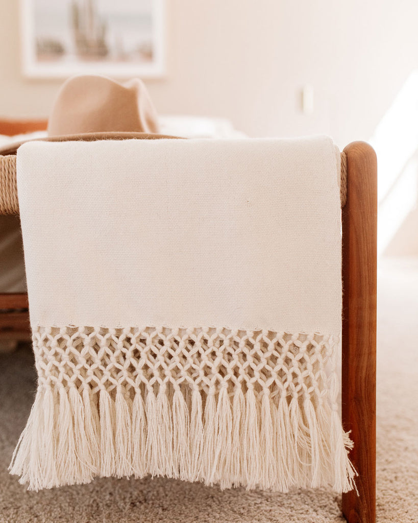 Luna Baby Alpaca Handwoven Throw Blanket