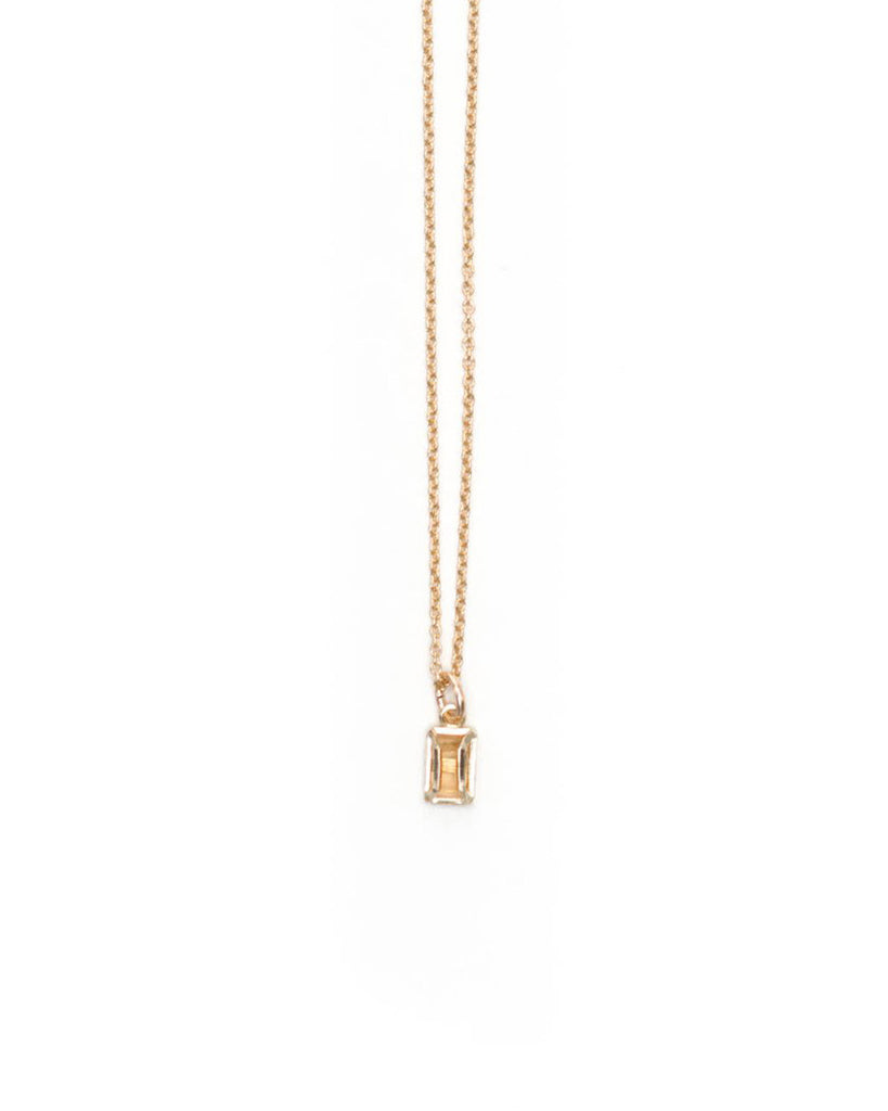 Velvet Underground Gold Plated Necklace - Peach Moonstone