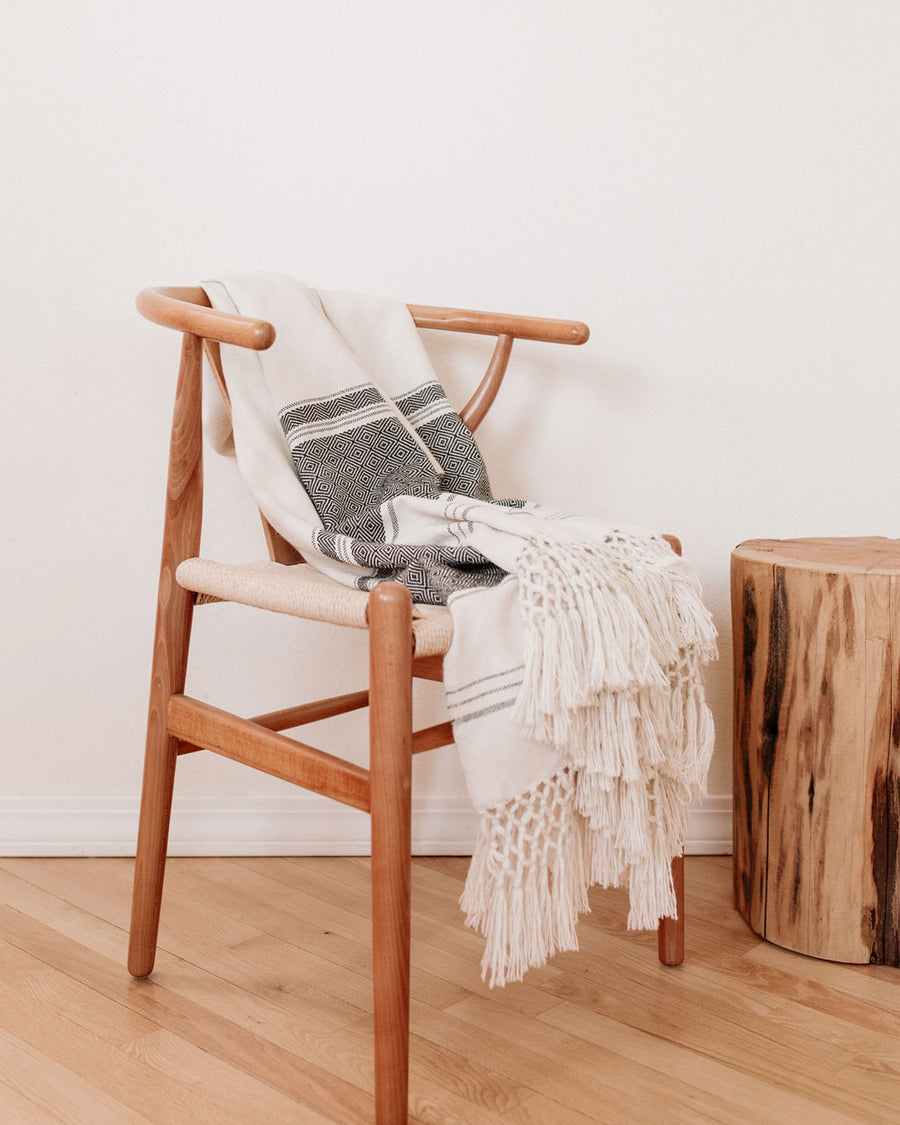 Rayas Baby Alpaca Handwoven Throw Blanket