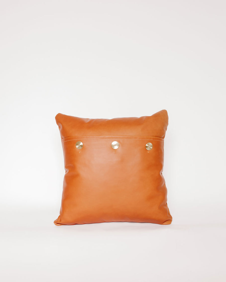 Safari Leather Pillow