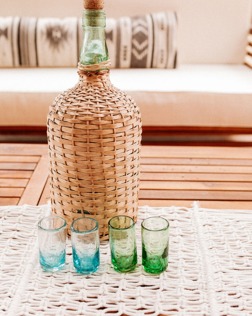 Turquoise Tequila Shot Glass Set